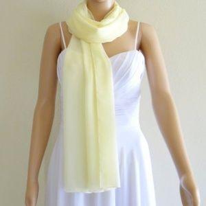 shawl Chiffon light yellow